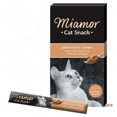 Miješani probni set: 18 x 15 g Miamor Cat Snack Cream