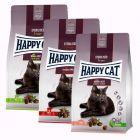 Mikspakke Happy Cat Sterilised Adult 3 x 10 kg