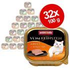 Mix pakke: 32 x 100 g Animonda vom Feinsten