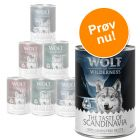 Mixpakke: 6 x 400 g Wolf of Wilderness hundefoder