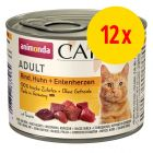 Mix-Sparpaket Animonda Carny Adult 12 x 200 g