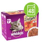Multi pakiranje Whiskas 1+ Adult Pure Delight vrečke 48 x 85 g