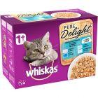 Multi pakiranje Whiskas 1+ Adult Pure Delight vrečke 12 x 85 g