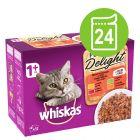 Multi pakiranje Whiskas 1+ Adult Pure Delight vrečke 24 x 85 g