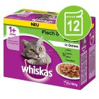 Multipack Whiskas 1+ Adult saquetas 12 x 100 g