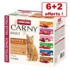 Multipack Animonda Carny 6 x 85 g + 2 sachets offerts !
