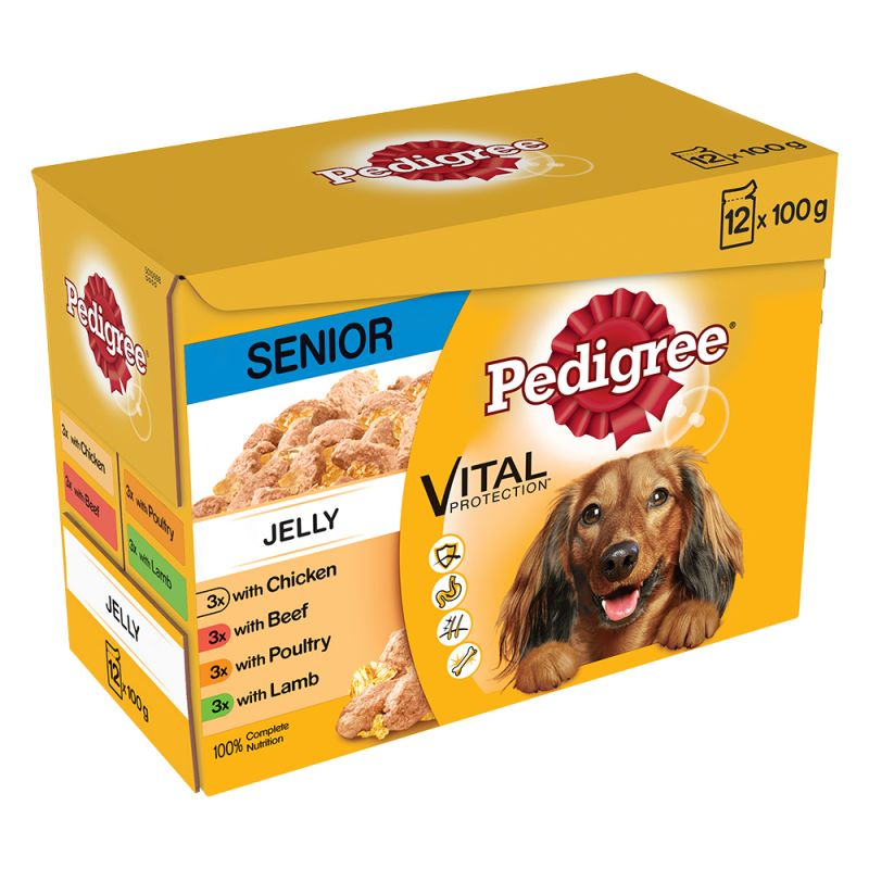 Multipack Pedigree Senior bolsitas en gelatina