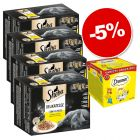 Multipack Sheba 48 x 85 g + Catisfactions Variety Snack Box 12 x 60 g : 5 % de remise !