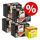 Multipack Sheba 48 x 85 g + Catisfactions Variety Snack Box 12 x 60 g à prix avantageux !