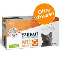 Multipack Yarrah Bio Pâté 8 x 100 g pour chat