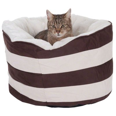 Mupfel Snuggle Bed - Cream / Dark Brown