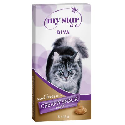 My Star is a Diva Creamy Snack con malta para gatos