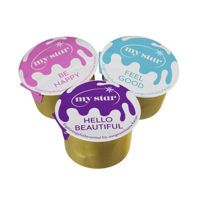 My Star Milky Cups snacks con leche para gatos - Pack mixto