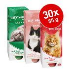 My Star Pedaços em molho 30 x 85g comida húmida para gatos - Pack económico