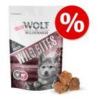 """Nå til spesialpris! Wolf of Wilderness """"Wild Bites"""" hundesnack 180 g"""