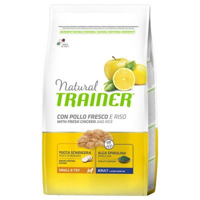 Natural Trainer Adult Small & Toy con Pollo fresco y arroz