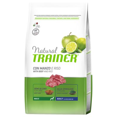 Natural Trainer Maxi Adult Manzo & Riso