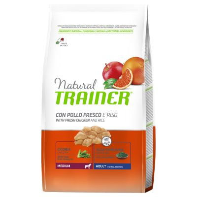 Natural Trainer Medium Adult con Pollo fresco & Riso