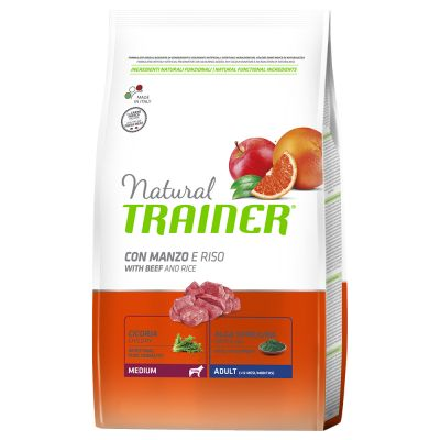 Natural Trainer Medium Adult Manzo & Riso