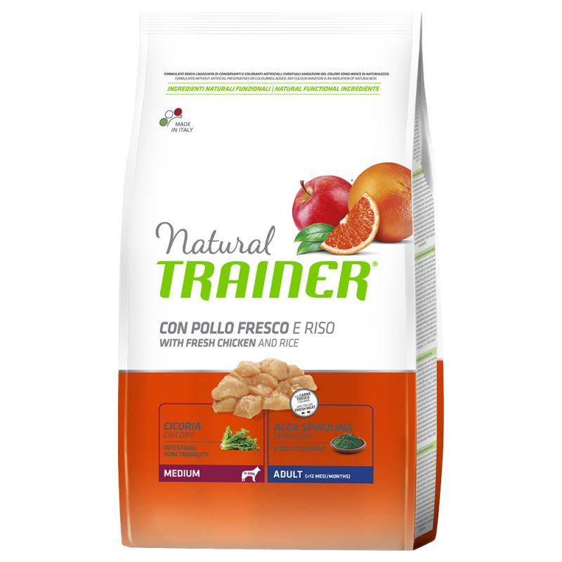 Natural Trainer Medium Adult Pollo fresco & Riso