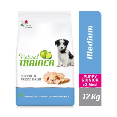 Natural Trainer Medium Puppy & Junior con Pollo fresco