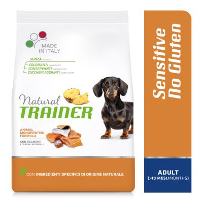 Natural Trainer Sensitive No Gluten Adult Small con Salmone