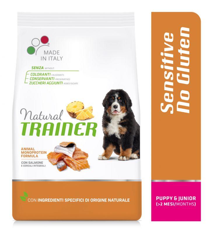 Natural Trainer Sensitive No Gluten Puppy & Junior Medium/Maxi con Salmone
