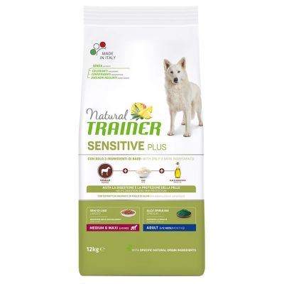Natural Trainer Sensitive Plus Adult Medium/Maxi con Cavallo