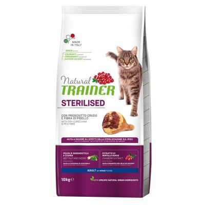 Natural Trainer Sterilised con Prosciutto crudo