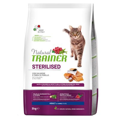 Natural Trainer Sterilised con Salmone
