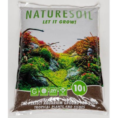 Nature Soil, sort akvariebundlag