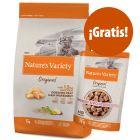 Nature's Variety 7 kg pienso + 12 x 70 g comida húmeda ¡gratis!
