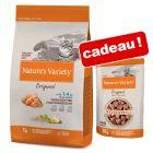Nature's Variety Original 7 kg + sachets Paté No Grain 12 x 70 g offerts !