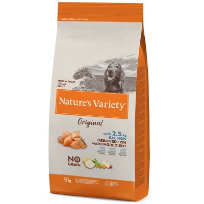 Nature's Variety Original No Grain Medium Adult salmão da Noruega