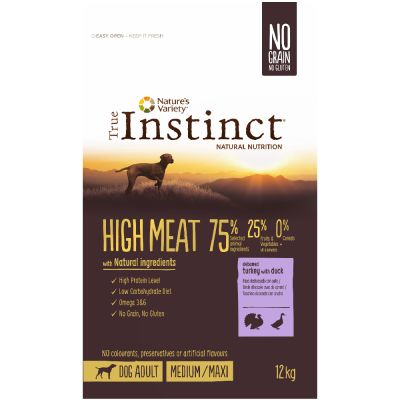 Nature's Variety True Instinct High Meat Medium-Maxi con pavo y pato