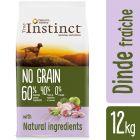 Nature's Variety True Instinct No Grain, dinde fraîche, petits pois pour chien