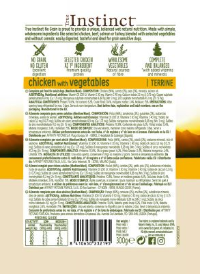 Nature's Variety True Instinct No Grain Medium/Maxi Terrina 16 x 300 g