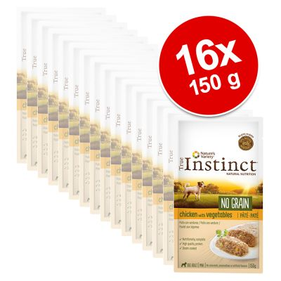 Nature's Variety True Instinct No Grain Mini Adult Patê 16 x 150 g - Pack económico