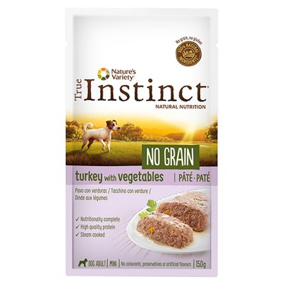 Nature's Variety True Instinct No Grain Mini Adult Patê 8 x 150 g para cães