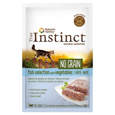 Nature's Variety True Instinct No Grain Pâté 8 x 70 g pour chat