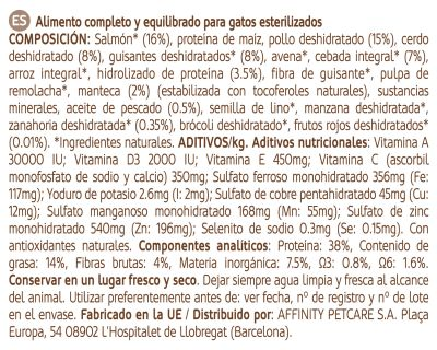 Nature's Variety True Instinct Original Adult Sterilized con salmón