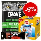 Nourriture Crave + friandises Pedigree Dentastix Daily Oral Care 28 x : 5 % de remise !