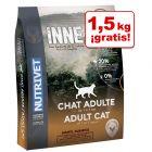 Nutrivet Inne 6 kg pienso para gatos en oferta: 4,5 + 1,5 kg ¡gratis!