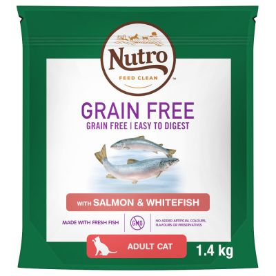 Nutro Cat Grain-Free Adult - Salmon & Whitefish