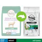 Nutro Grain Free Adult Grosser Hund Lamm