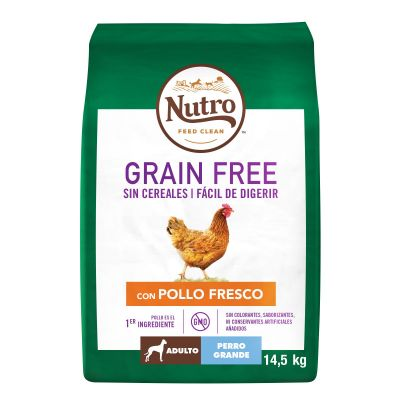 Nutro Grain Free Adult Large Pollo para perros