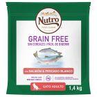 Nutro Grain Free Adult Salmón y pescado blanco para gatos