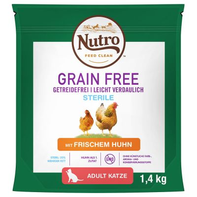 Nutro Grain Free Adult Sterilized с курицей