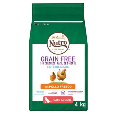Nutro Grain Free Adult Sterilized Pollo para gatos