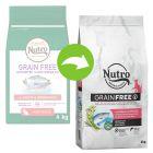 Nutro Grain Free Adult Zalm en Witvis Kattenvoer